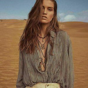 Free People Fp One Waverly Striped Top XS